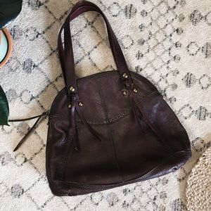 Lucky Brand | Brown Leather Shoulder Tote Bag